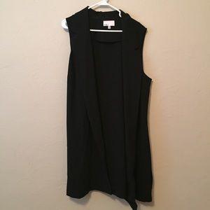 Jackets & Blazers - Longline Black Vest
